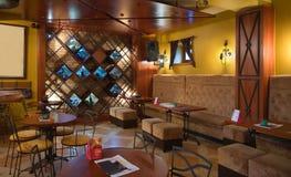 Detalhes do interior do café Fotografia de Stock