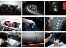 Detalhes do interior do carro Imagem de Stock