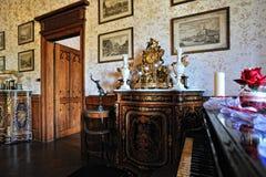 Detalhes do interior do quarto do castelo de Reichenstein Fotografia de Stock