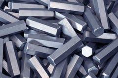 Detalhes do metal do hexágono fotos de stock