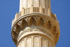 Detalhes do minarete da mesquita, Líbano Imagem de Stock