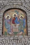Detalhes do mosaico da igreja Fotografia de Stock Royalty Free