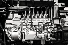 Detalhes do motor de automóveis Fotografia de Stock Royalty Free