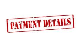 Detalhes do pagamento ilustração royalty free