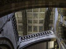 Detalhes do painel de teto do museu da história natural fotografia de stock