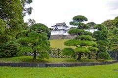 Detalhes do palácio imperial no Tóquio Japão Foto de Stock