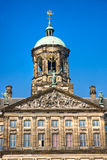 Detalhes do palácio real, quadrado da represa, Amsterdão Imagem de Stock