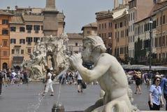 Detalhes do quadrado de Navona em Roma Fotos de Stock Royalty Free