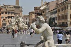 Detalhes do quadrado de Navona em Roma Foto de Stock Royalty Free
