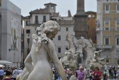 Detalhes do quadrado de Navona em Roma Foto de Stock
