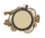 Detalhes do quadro e do maquinismo de relojoaria do metal Fotografia de Stock
