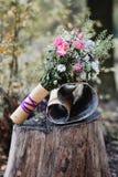 Detalhes do ramalhete do casamento Imagem de Stock Royalty Free