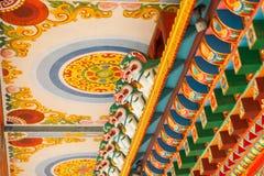 Detalhes do templo budista imagens de stock royalty free