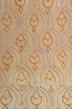 Detalhes do teste padrão cerâmico islâmico no castelo de Gibralfaro, Malaga Fotografia de Stock