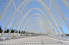 Detalhes do teste padrão da arquitetura de Atenas o Estádio Olímpico, Grécia Foto de Stock