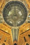 Detalhes do teto da galeria da compra de Vittorio Emanuele imagens de stock royalty free