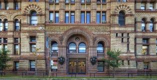 Detalhes do tribunal, Toronto, a câmara municipal velha fotos de stock royalty free