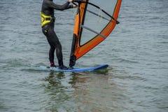 Detalhes do windsurfe foto de stock