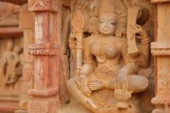 Detalhes dos carvings do templo hindu de Menal, Rajasthan, Índia Menal é ficado situado 54 quilômetros de Chittorgarh Fotos de Stock