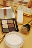 Detalhes dos cosméticos Imagens de Stock