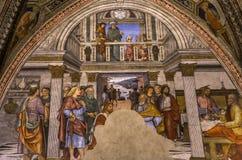 Detalhes dos di San Giovanni do battistero, Siena, Itália Fotografia de Stock Royalty Free
