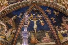 Detalhes dos di San Giovanni do battistero, Siena, Itália Foto de Stock