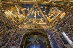 Detalhes dos di San Giovanni do battistero, Siena, Itália Imagem de Stock