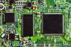 Detalhes dos microchip Imagens de Stock