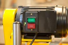 Detalhes e componentes da máquina do woodworking imagem de stock