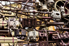 Detalhes e cremalheira do metal fotos de stock