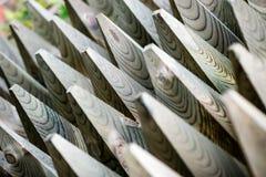 Detalhes e materiais de madeira da cerca imagens de stock royalty free