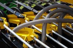 Detalhes e mecanismos da maquinaria e equipamento agrícola fotos de stock royalty free