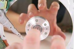 Detalhes e mão da movimentação dura Fotografia de Stock