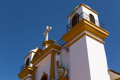 Detalhes espanhóis coloniais da igreja Imagem de Stock Royalty Free