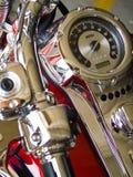 Detalhes estacionários da motocicleta Fotografia de Stock Royalty Free