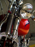 Detalhes estacionários da motocicleta Imagem de Stock