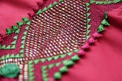 Detalhes feitos a mão marroquinos do Kaftan Imagens de Stock Royalty Free