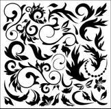 Detalhes florais decorativos ilustração do vetor