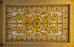 Detalhes florais dourados Fotos de Stock