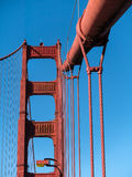 Detalhes, golden gate bridge fotografia de stock royalty free
