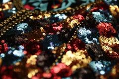 Detalhes marroquinos pretos da cafetã Foto de Stock Royalty Free