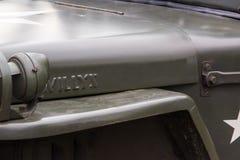 Detalhes militares do carro foto de stock