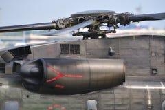 Detalhes militares do helicóptero Imagens de Stock