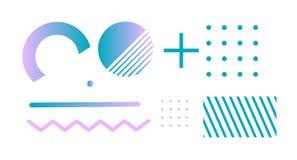 Detalhes minimalistic abstratos do inclinação Vetor ilustração stock