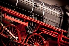 Detalhes modelo locomotivos velhos Fotografia de Stock