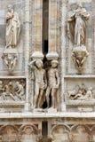 Detalhes na catedral do domo em Milão Fotos de Stock