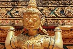 Detalhes no templo budista, a deidade Imagens de Stock