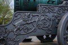 Detalhes no transporte de arma do canhão do czar fotos de stock