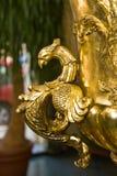 Detalhes no vaso do ouro Fotografia de Stock