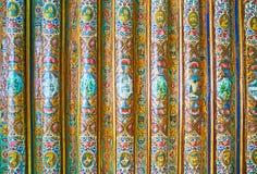 Detalhes pintados de casa de Qavam, Shiraz, Irã Fotografia de Stock Royalty Free